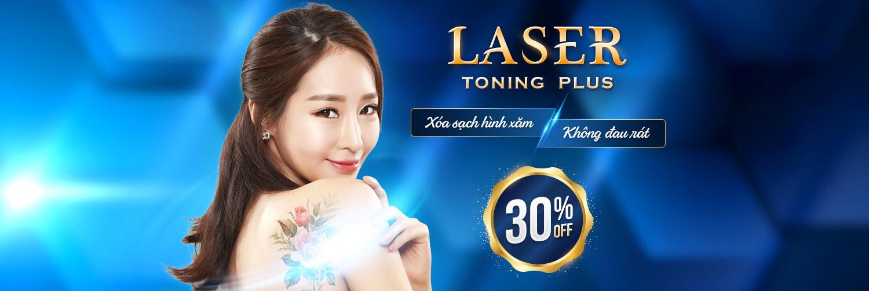 Khuyến mại xóa hình xăm bằng Laser Toning Plus