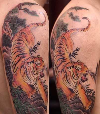 Hình xăm 12 con giáp hình con hổ