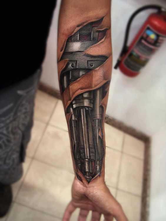 Hình xăm 3d trên cánh tay