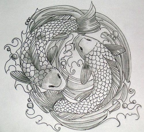 Hình xăm cá chép vượt vũ môn đẹp