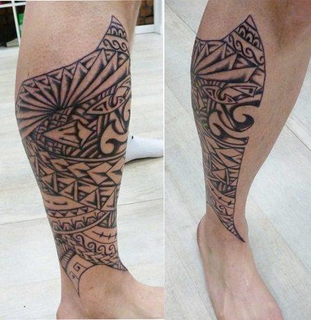 Hình xăm đẹp ở bắp chân