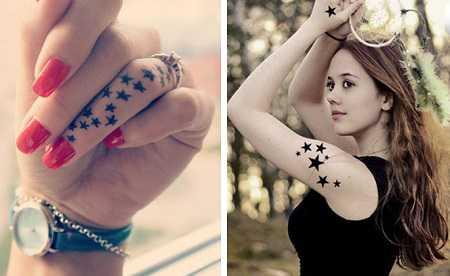 Hình xăm ngôi sao đẹp ở ngón tay