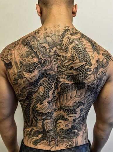 hình xăm rồng ở lưng 6