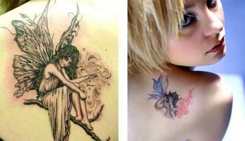 Hình xăm thiên đẹp cánh bướm sau lưng cho nữ