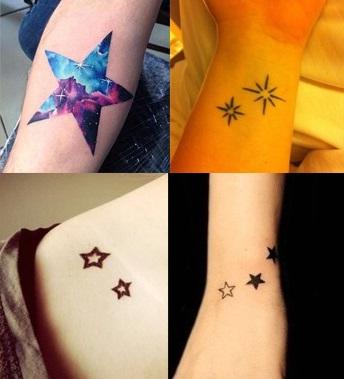 Hình xăm ngôi sao 5 cánh nghệ thuật
